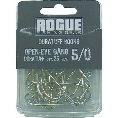 Rogue Open Eye Gang Hook 5/0 25pk Bulk Pack
