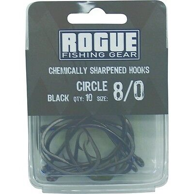 Rogue Circle Hook Black 8/0 10pk Bulk Pack