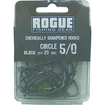 Rogue Circle Hook Black 5/0 20pk Bulk Pack