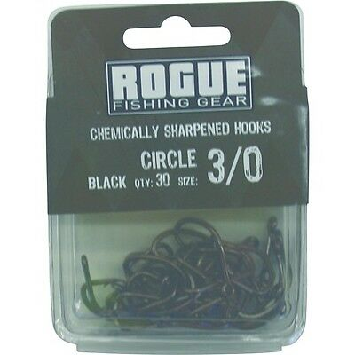 Rogue Circle Hook Black 3/0 30pk Bulk Pack