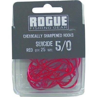 Rogue Suicide Hook Red 5/0 25pk Bulk Pack