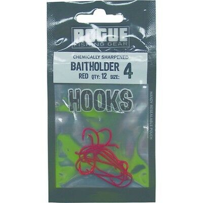 Rogue Baitholder Hook Red 4 12pk Pre Pack