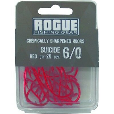 Rogue Suicide Hook Red 6/0 20pk Bulk Pack