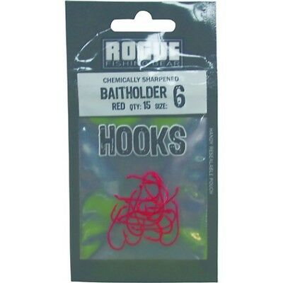 Rogue Baitholder Hook Red 6 15pk Pre Pack