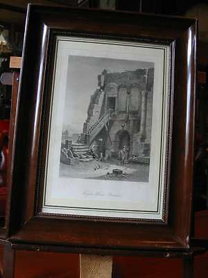 Brindisi-Italien-Italy-Italia-Im Stuck-Holzrahmen-Stahlstich-Steel engraving