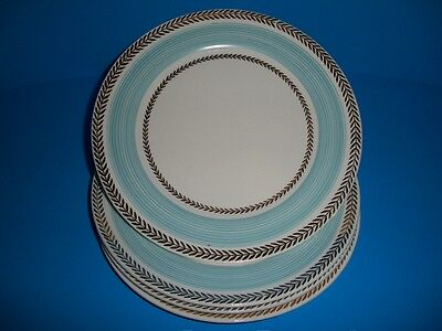 4 Salad Plates American Limoges Candle Light Lyceum Blue LC USA SOME WEAR, AS IS