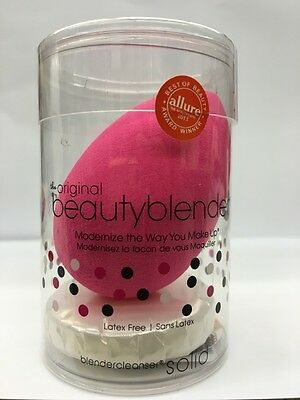 Beauty blender Foundation Make Up Pink Sponge With Mini Solid Cleanser+Free P&P