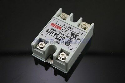 New SSR-25DD Solid State Relay DC-DC 3-32VDC 5-60VDC For Temperature Controller