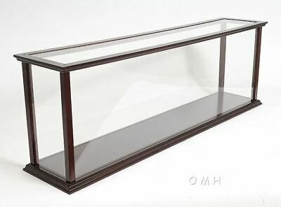 "Display Case 45"" Wooden Table Top Cabinet for Ocean Liner & Cruise Ship Models"