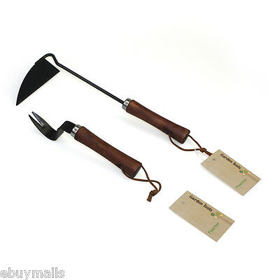 2 Pieces Patio Weed Remover Hand Weeder Sickle Gardening Garden Hand Tool Set UK