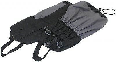 Walking Gaiters Black With Adjustable webbing / Secure fastening - Yellowstone