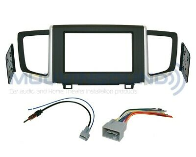 mercedes benz double 2 din dash radio stereo install kit wire radio stereo installation dash kit double din wire harness antenna ho115