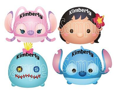 Mickey Mouse Lilo and Stitch Angel Tsum Tsum Cruise Stateroom Door Magnet B3G1F