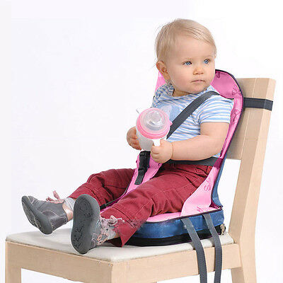 Portable Baby Toddler Infants Dining Chair Booster Soft Seat Harness Safety Pink