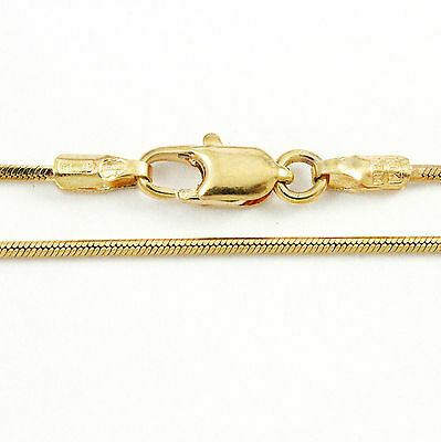 """16-20"""" 1.01mm 18k Yellow Gold Snake Chain, (NEW solid Italian necklace) 2357"""