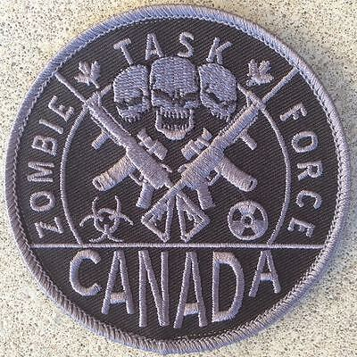 """Zombie Task Force Canada - 3.5"""" Vel-Cro Patch (Tactical Police / Military Unit)"""