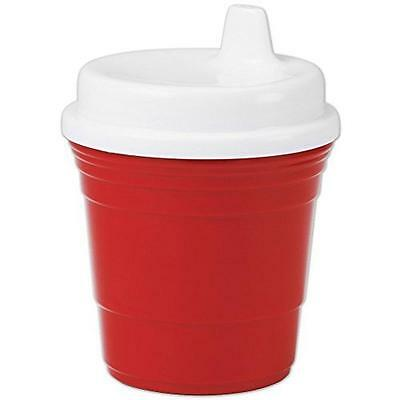 Durable Plastic 8 Oz. Red Solo Cup Baby Sippy Cup With Snug Spill Proof Lid, New