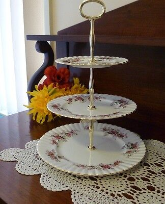 Royal Albert Lavender Rose 3 Tier Cake Stand  Made In England