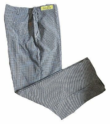 Chef Designs Men's PS64WB 100% Spun Polyester Checked Work Uniform Cook Pant