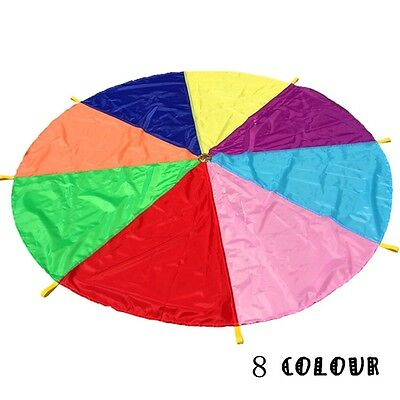 16ft/5 Meter Kids Play Rainbow Parachute Outdoor Game Development Exercise