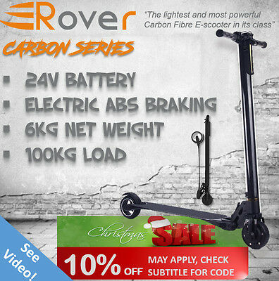 NEW ROVER Electric Scooter 36V Turbo w/ LED for Adult/Child  CARBON FIBRE BODY