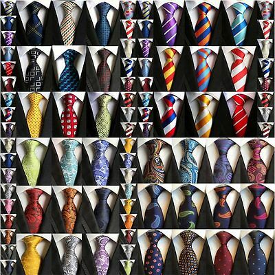 HZ 60 Color Classic Men's Plaids Paisley Striped 100% Silk Tie Necktie Neck Ties