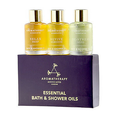 Aromatherapy Associates Essential Travel Oil Bath Shower Message 3 x 7.5ml #6471