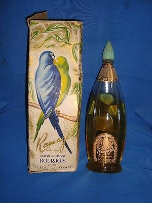 Old Vintage Ramage Bourjois Perfume Bottle with Box from France 1950