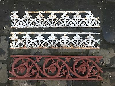 3 Vintage Antique Cast Iron Lace Work Panel Sections Decorations Melbourne