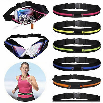 Unisex Single Double Travel Hiking Jogging Running Belt Bag Waist Pack Cycling