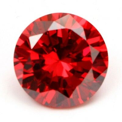 2X 14mm/0.6'' Beautiful Round Cut Stunning Red Padparadscha Sapphire Gemstone