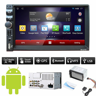 "GPS Android 4.4 CAR HD 7"" 2 DIN STEREO MP3 MP5 RADIO PLAYER BLUETOOTH FM/USB"