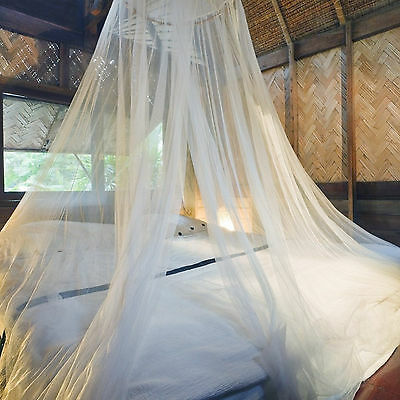 White Mosquito Fly Insect Canopy Net Netting For Bed Travel Camping King Queen