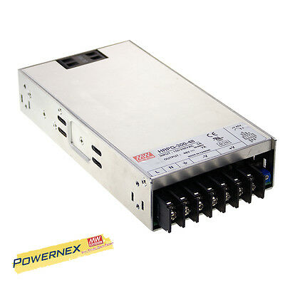 MEAN WELL [PowerNex] NEW HRPG-300-12 12V 27A 324W Power Supply with PFC