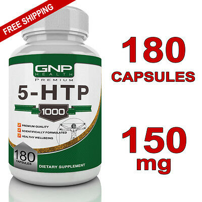 5-HTP - 180 Capsules - 150mg - Stress Relief - Anxiety Support - Sleep - 5HTP