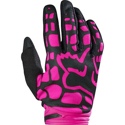 Fox Racing 2017 Mx NEW Dirtpaw Black Pink Womens Dirt Bike Motocross Gloves