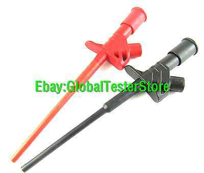 TP169 1000V 10A Spring Loaded Push Open Clip Hook on Meter Test Probes Red+Black