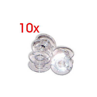 10 Sewing Clear Plastic Sewinc Machine Empty Bobbin for Brother singer Janome SH