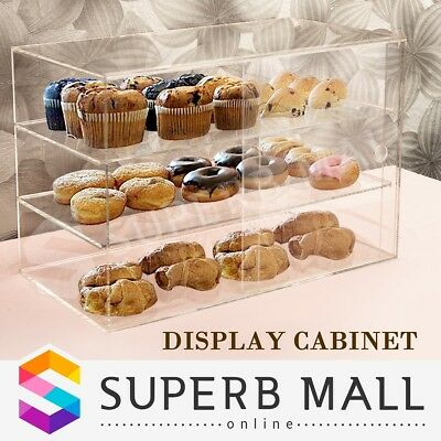 Large Cake Bakery Muffin Donut Pastries Cabinet 5mm Acrylic Cupcake Display