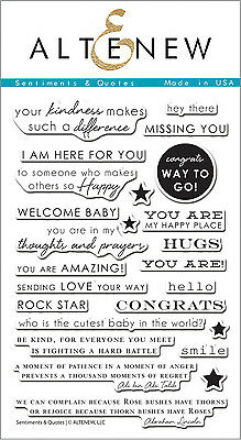 """Altenew - Photopolymer Clear Stamps - 4""""x6"""" Sentiments & Quotes"""