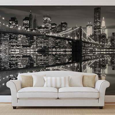 WALL MURAL PHOTO WALLPAPER XXL New York City Skyline Brooklyn Bridge	 (1819WS)