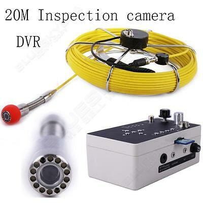 """20M 7"""" Sewer Waterproof Camera Pipe Drain Video Record Inspection System DVR"""