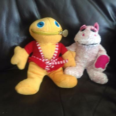 """WL Official Rainbow ZIPPY and BUNGO Soft Toys approx 8"""" gcc"""
