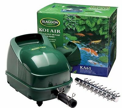 Blagdon Koi Air Pump 25 50 65 Garden Pond Aerator Interpet Goldfish Oxygen Water