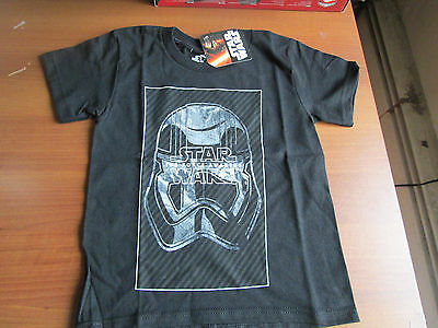 Disney Unisex Star Wars The Force Awakens Storm Trooper Logo Tee Size 4 Black