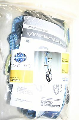 5 Point ANSI Safety Body Harness w/ waist rings Fall Protection 15503D