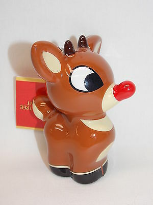 Rudolph The Red Nose Reindeer Christmas Tree Ornament 4 In tall Resin New w/tags