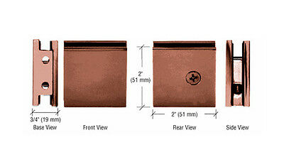 CRL Antique Brushed Copper Square Style Notch-in-Glass Fixed Panel U-Clamp • CAD $20.07