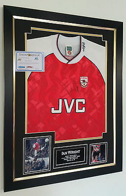 ***  Ian Wright of Arsenal Signed Shirt Autograph Display  *** LEGEND