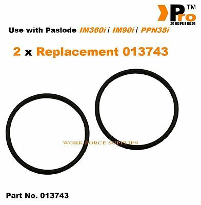 Part No. 013743  2x Replacement O-Ring For Paslode IM360i / IM90i / PPN35i   016